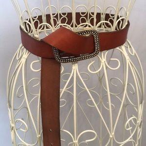 American Eagle brown belt with embellished buckle